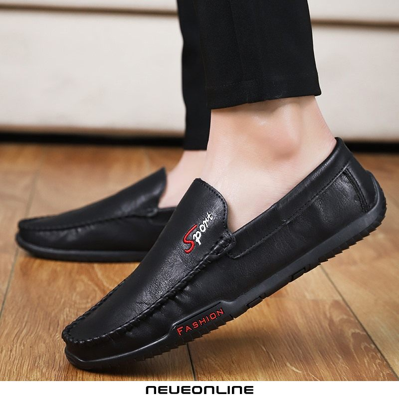 fashion loafers herren bequemes casual driving outdoor schwarz